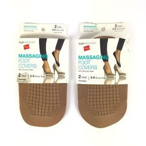 3/$25 - 2 pairs Massaging Sock Foot Covers Sz 5-9